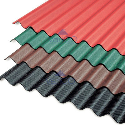 Corrugated Bitumen Roofing Sheet - Sheds, Barns, Garage Roofs - Pick Your Colour