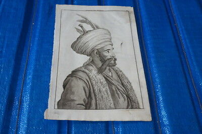 Old Map Book Print C.De Bruyn 1711 / Iran Gate Keeper of the King Native Costume