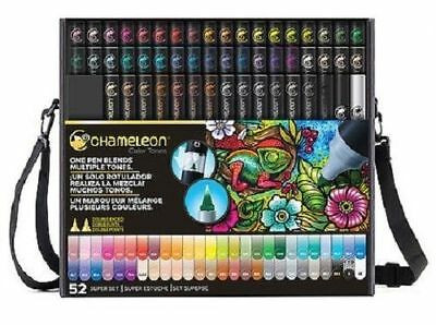 CHAMELEON DELUXE 52 SET Colour Tones Permanent Alcohol Ink Pens Professional Set