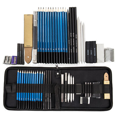 32PC / set Dibujo Boceto Lápiz Borrador Carbón Pintura Sketching Art Craft Kit