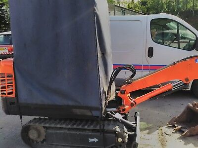 mini digger and trailer