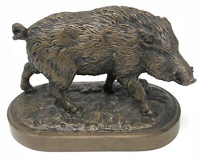 ANTIQUE VINTAGE Bronze Sculpture boar Statue