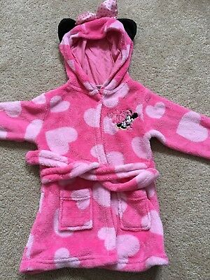 Disney Minnie Mouse Girls Dressing Gown 12-18 Months