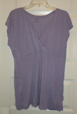 EUC Gap Maternity & Nursing S/S Freesia (purple) Shirt SZ XL
