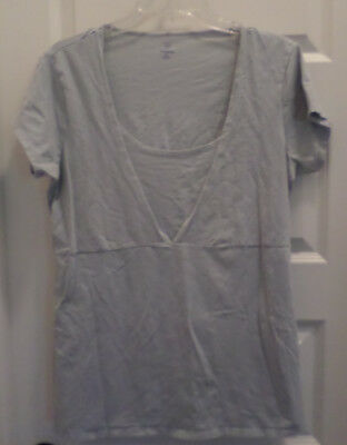 EUC Gap Maternity & Nursing S/S Light Blue Shirt SZ XL