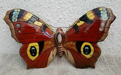 Rare BESWICK BUTTERFLY ~ Peacock No.1489 ~ Designed by Albert Hallam ~ Perfect