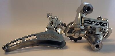 Vintage Suntour Superbe 1st Generation Front and Rear Derailleur VGC