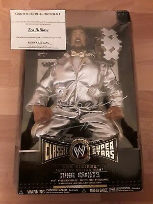 WWE Million Dollar Man Ted DiBiase Ring Giants Signed Jakks Pacific Figur + COA