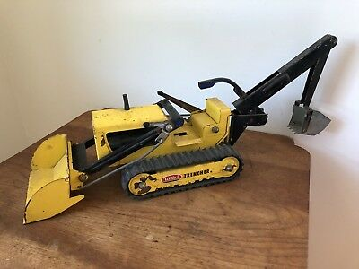 1960's Vintage Original Tonka Toy TRENCHER BACKHOE TRACTOR Old Toy Truck