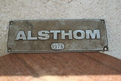 Alsthom Plaque De Locomotive 1976, Sncf, Train