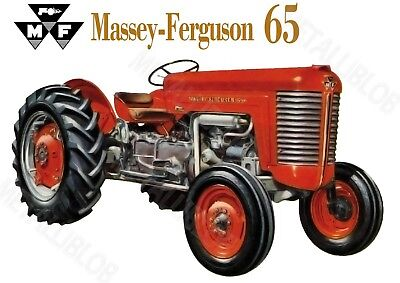 Massey-Ferguson 65 Tractor Advertising - Poster (A3) - NEW