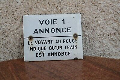 Sncf Plaque Emaillee, Gare, Train, Locomotive, Cheminot