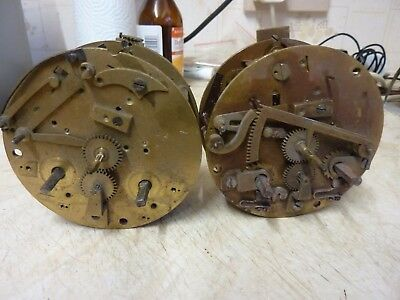 2 Antique French Striking Movements - Spares Or Repair (A)