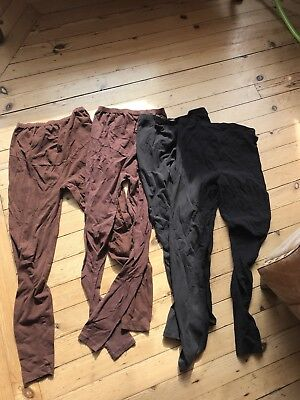 Bundle Of Maternity Leggings - Black And Brown  Size Small