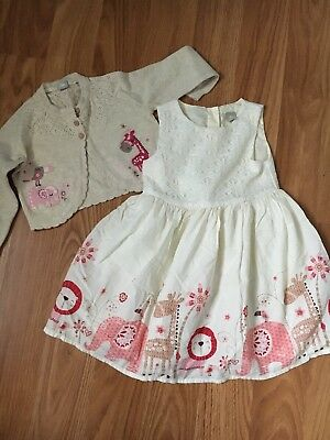 Tu Baby Girl Party Dress & Matching Cardigan Size 18-24 Months