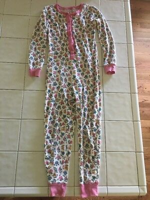 Mini Boden Floral All In One Pajama Size 10