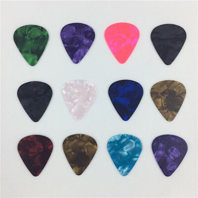 New 10X Acoustic Bulk Celluloid Electric Smooth Guitar Picks 0.71mm Thickness