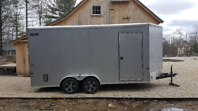 "2016 Car Mate Enclosed Cargo Trailer 7 x 19 ""V "" Nose - TOY HAULER!!"