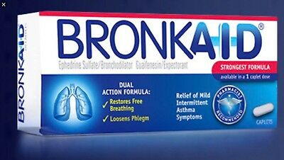Bronkaid 60 Caplets For Asthma New In Box Fast Shipping Exp 12/19+ CHEAP!