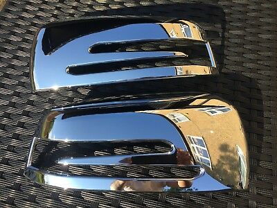 Chrome Wing Mirror Covers Mercedes Benz C Class W204 2008-2014 C63 Amg