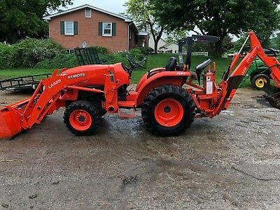 Kubota L3301 Tractor Backhoe Loader  3 Point Hitch And 540 Pto