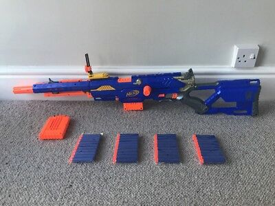 Nerf Longstrike CS-6 Sniper Rifle With Sights 2 Clips & 40 New Darts