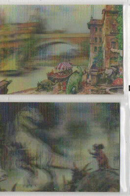 Dinotopia - Lot of 2 different Dino-Vision chase cards NM 1995 Collect-A-Card