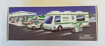 NEW 1998 HESS Toy Truck Recreation Van w/ Motorcycle & Dune Buggy  FREE SHIPPING