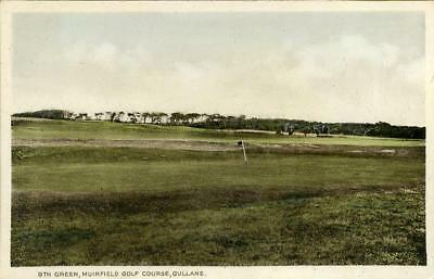 Printed Postcard 9Th Green Muirfield Golf Course Gullane, East Lothian, Scotland
