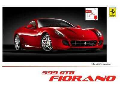 Ferrari 599 GTB Fiorano owners manual PDF english
