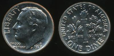 United States, 1973-D Dime, Roosevelt - Uncirculated