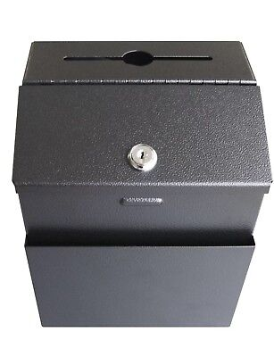 Wall Mountable Steel Suggestion Box with Lock - Donation Box - Colle... New