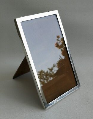 "Vintage 1921 Art Deco Solid Silver & Wood Easel Photo/Picture Frame 6"" X 3.7"""