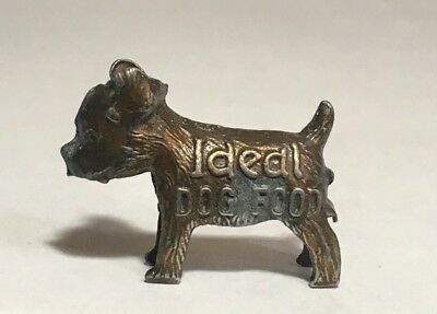 Miniature Metal Terrier Dog Ideal Dog Food Good Luck Vintage Metal Advertising