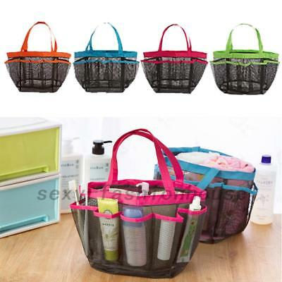 Packable Mesh Shower Bag Caddy Bathroom Carry Tote Toiletry Bath Organizer AU