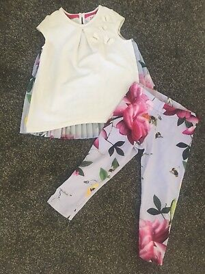 GENUINE TED BAKER girls dress top and leggings 12/17 months