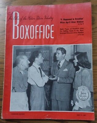 Vintage May 17,1947 BOXOFFICE Magazine  Canadian Edition