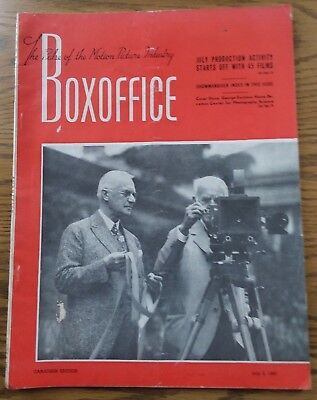 Vintage July 5,1947 BOXOFFICE Magazine  Canadian Edition