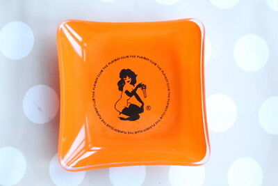Vintage Orange Glass PLAYBOY Club Ashtray