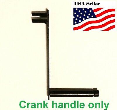 "Black Steel Hand Crank 8mm 5/16"" shaft cranking handle metal"