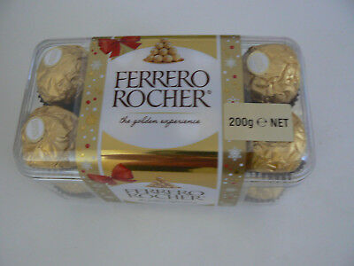 3 x NEW boxes of 200g Ferrero Rocher 16 Chocolate Chocolates per box. unopened