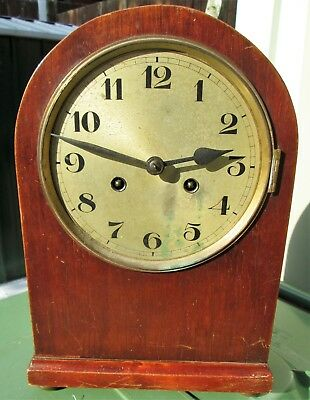 Antique Dome Topped Mantle Clock, Sold For Restoration, Nice Case.