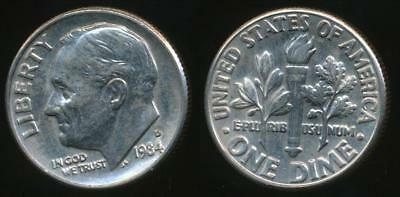 United States, 1984-D Dime, Roosevelt - Uncirculated