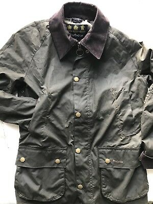 Barbour Ashby Waxed Jacket Size Small Olive MSRP $399