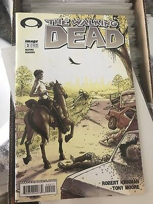 The Walking Dead #2 Comic Issue Nov 1st Print Robert Kirkman Damage to Back
