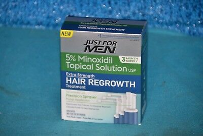 Just For Men 3 Mo. Supply 5% Minoxidil Topical Solution EXP X/2019 BRAND NEW