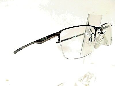 ce15f4ba590 OAKLEY SOCKET 5.5 OX3218-0252 Satin Pewter w  Green Icons 52 18-138 ...
