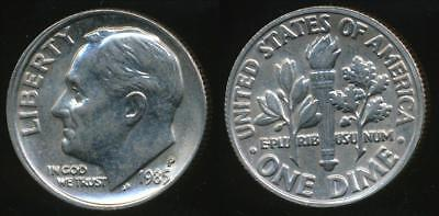 United States, 1985-P Dime, Roosevelt - Uncirculated