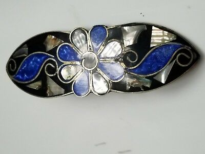 Vintage  Mother of pearl Hair [Barrett) Accessorie