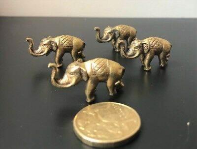 Lucky Elephant-Small Statue-Brass-Charms